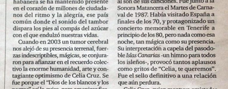 Celia Cruz & Islas Canarias